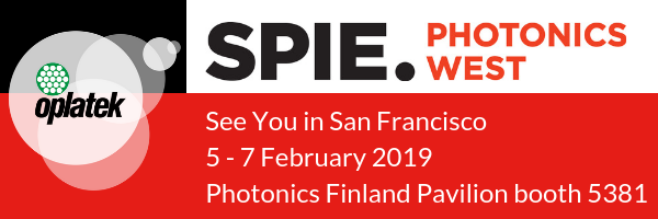 The leading global photonics technologies event, SPIE Photonics West is on 2 – 7 February 2019